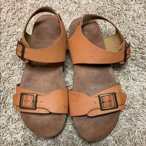 Bamboo sandals - size 7 1/2